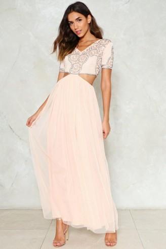 nasty gal never tulle much embellished dress  blushpink