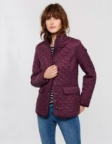 JOULES NEWDALE QUILTED JACKET / burgundy jackets