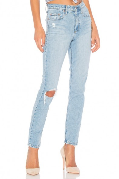 Nobody Denim TRUE JEAN ANKLE remixed ~ close fit distressed jeans