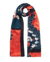 JIGSAW NORDIC FLORAL SILK SCARF / scarves / accessories