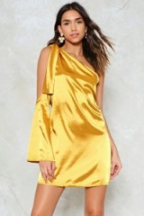 Nasty Gal One For the Road Satin Dress