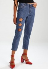 ONLY ONLTONNI STAR Relaxed fit jeans | blue cut out denim