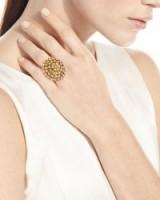 Oscar de la Renta Crystal Bezel Dome Ring ~ cocktail rings ~ statement jewellery