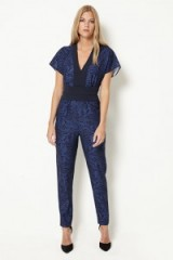 damsel in a dress PLUMAGE PRINT JUMPSUIT
