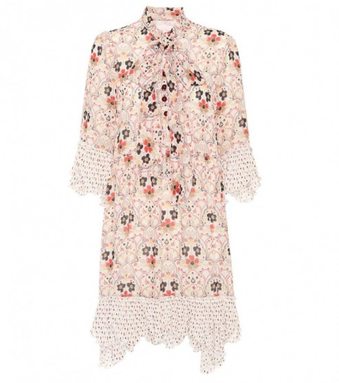 SEE BY CHLOÉ Floral printed neck tie mini dress