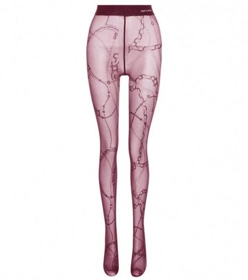 Balenciaga Printed Tights    Purple Chain Print