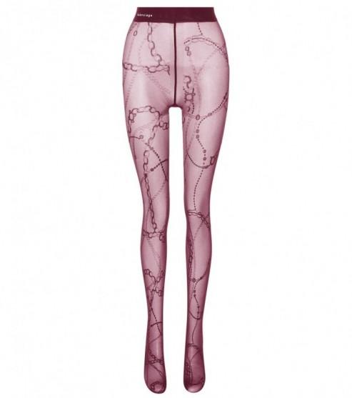 BALENCIAGA Printed tights / purple chain print