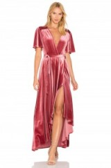 Privacy Please X REVOLVE KRAUSE DRESS – deep rose-pink velvet evening dresses