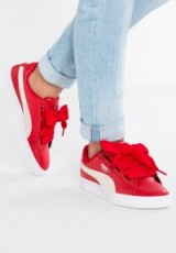 Puma BASKET HEART DE Trainers toreador/white | red thick lace up sneakers