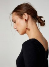 UTERQUE SAFETY PIN EARRINGS