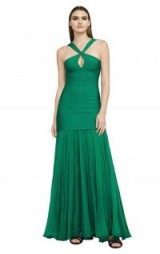 HERVE LEGER SARINA BANDAGE GOWN – fitted green gowns
