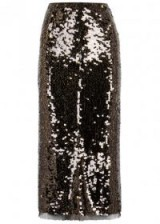 REJINA PYO Sasha two-tone sequinned pencil skirt ~ sequin skirts