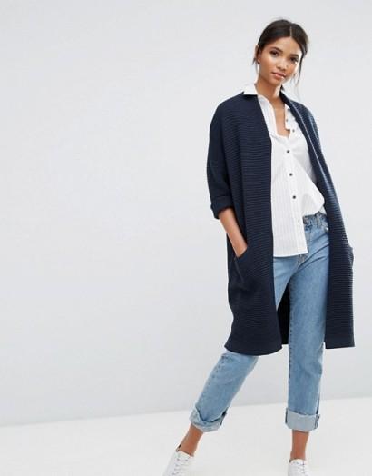 Selected Laua 3/4 Sleeve Knit Cardigan #knitwear #casual #cardigans #long #blue