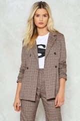 Nasty Gal Shake It Out Plaid Blazer ~ check suit jackets/blazers ~ suits