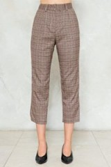 Nasty Gal Shake It Out Plaid Pants ~ Cropped suit trousers ~ check suits
