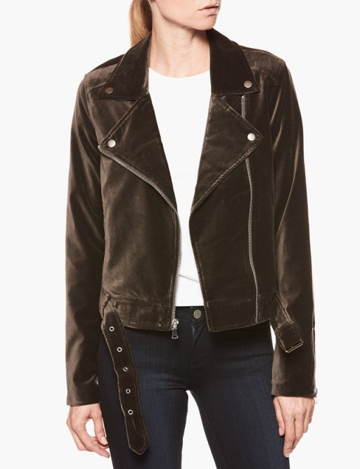 Paige Denim SHANNA JACKET – DEEP JUNIPER VELVET #jackets #casual #style #biker #moto