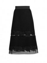 DOLCE & GABBANA Sheer-insert lace midi skirt