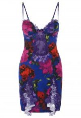 LA PERLA FLORAL PRINT ANATOMICAL SILK SLIPDRESS WITH BUILT-IN BRA – luxury fitted slip dresses