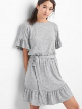 GAP Softspun ruffle tie-belt dress #dresses #casual #fashion