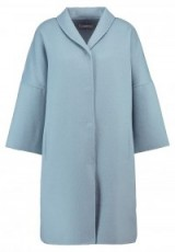 Stefanel Classic coat light blue | 3/4 sleeve winter coats