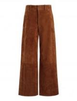 JOSEPH Suede Stretch Ferrandi Crop Trousers / rust-brown cropped pants