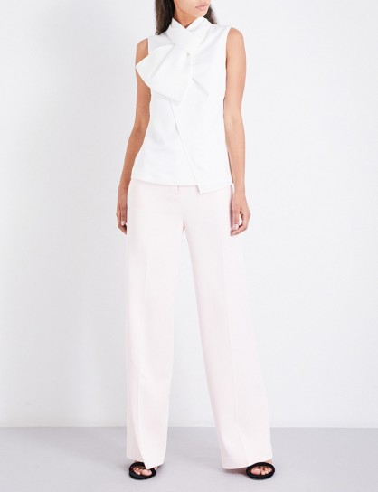 TED BAKER Danilat wide-leg trousers – nude-pink pants