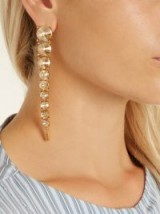 OSCAR DE LA RENTA Tendril crystal-embellished drop earrings