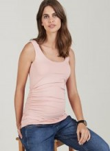 Isabella Oliver THE MATERNITY TANK – pink side ruched jersey top