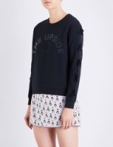 THE UPSIDE Bowie bow-detail cotton-jersey sweatshirt | black sweatshirts
