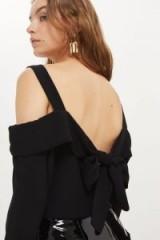 Topshop Tie Back Bardot Top