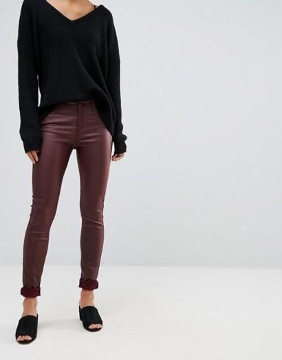 Vero Moda Coated Skinny Jeans
