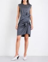 VICTORIA VICTORIA BECKHAM Asymmetric-knot wool dress