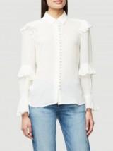 FRAME victorian ruffle blouse
