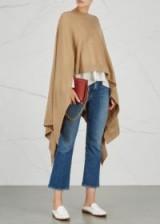 LE KASHA Vienne camel cashmere cape ~ chic capes