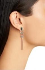 VINCE CAMUTO Linear Tassel Earring – long drop earrings – cocktail jewellery