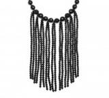 LOLA ROSE Vintage Botanics Statement Fringe Necklace | black stone necklaces