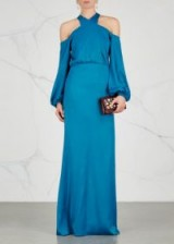 SAFIYAA Violana open-shoulder satin gown