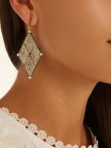 ARA VARTANIAN X Kate Moss diamond & gold earring ~ single statement earrings