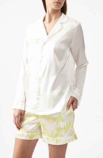 YOLKE Deco Palm Shorts Set – sleep sets – silk sleepwear – nightwear - flipped
