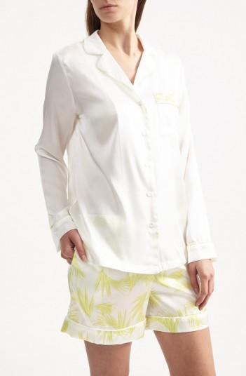 YOLKE Deco Palm Shorts Set – sleep sets – silk sleepwear – nightwear