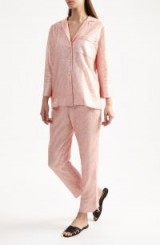 YOLKE Pink Sequin Suit – luxury loungewear