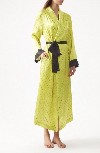 YOLKE Ladybird Silk Dressing Gown – sleepwear gowns – luxury nightwear robes - flipped