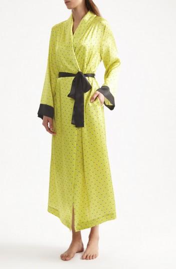 YOLKE Ladybird Silk Dressing Gown – sleepwear gowns – luxury nightwear robes