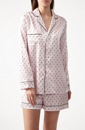 YOLKE Ladybird Silk Shorts Set – luxury nightwear – sleepwear sets - flipped