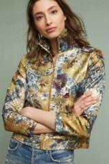 Hemant & Nandita Abigail Brocade Blazer, Metallic | luxe embellished cropped jackets