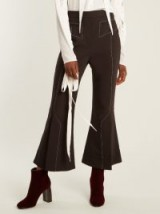 ELLERY Align kick-flare wool-blend trousers | cropped flared pants