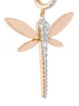 ANAPSARA Dragonfly earrings | rose gold and diamond dragonflies | luxe style jewellery