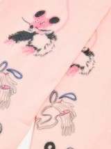 CLAIRE BARROW Animal-print tights / cute pink accessories
