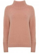 MINT VELVET APRICOT FUNNEL NECK BOXY KNIT ~ high neck jumpers