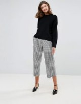 ASOS Tailored Dogtooth Awkward Length Trouser | extra cropped check print pants